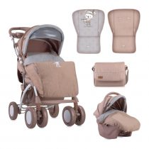 ДЕТСКА КОЛИЧКА LORELLI TOLEDO SET BEIGE INDIAN BEAR + СТОЛЧЕ ЗА КОЛА - Код L11070