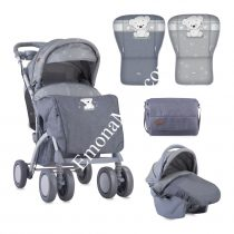 ДЕТСКА КОЛИЧКА LORELLI TOLEDO SET GREY MY TEDDY + СТОЛЧЕ ЗА КОЛА - Код L11072