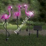 "Соларна лампа ""Фламинго"" (3бр) - Код G1725"