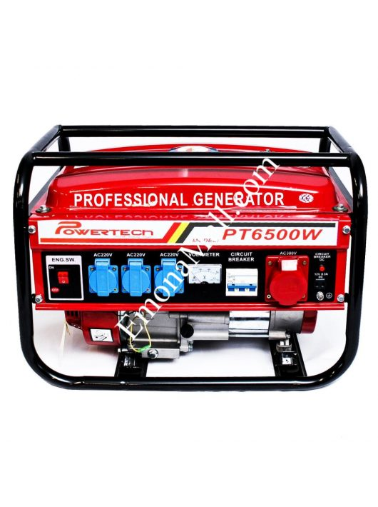 Бензинов генератор PowerTech 4000W - Код G1947