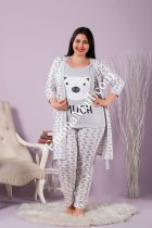 Дамски пижами от 3 части
