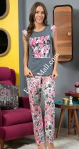 Дамска пижама с цветя
