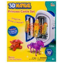"""Комплет за 3D моделиране """"Конче с карета и замък"""" - Код W2267"""
