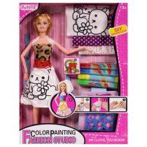 Детски комплект модно ателие и кукла - Код W2445