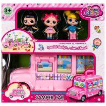 Комплект кемпер и три кукли LOL - Код W2699