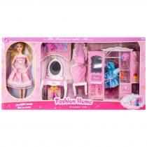 Кукла с чупещи се стави, гардероб, тоалетка и аксесоари - Код W2772