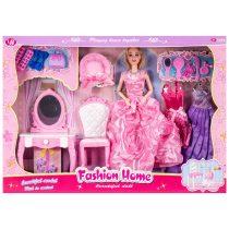 Комплект кукла с чупещи се стави, тоалетка и аксесоари - Код W2831