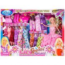 Кукла с 12 допълнителни рокли - Код W2906