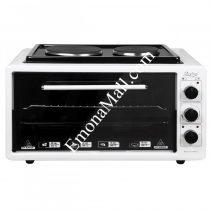 Готварска печка с два котлона ZEPHYR ZP 1441 T40HP, 3900W, 40 литра, Терморегулатор, Тава и решетка - Код G8242