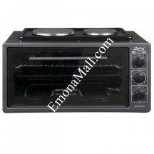Готварска печка с два котлона ZEPHYR ZP 1441 T40HP, 3900W, 40 литра, Терморегулатор, Тава 36 см, Черен - Код G8245